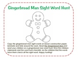 Gingerbread Man Sight Word Hunt