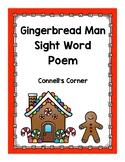 Gingerbread Man Sight Word Poem