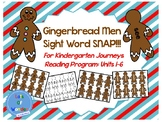 Gingerbread Man Sight Word SNAP!!! Game for Kindergarten J