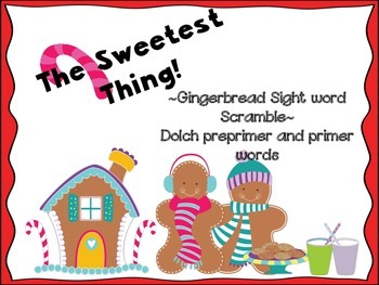 Gingerbread Man Sight Word Scramble