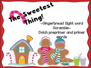 Gingerbread Man Sight Word Scramble