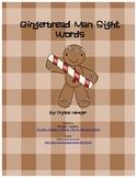 Gingerbread Man Sight Words