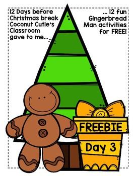 Gingerbread Man Silent E short vowel/long vowel sort