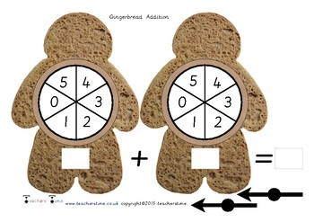 Gingerbread Man Spin Addition
