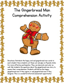 Gingerbread Man Story Comprehension Activity