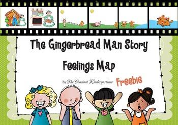Gingerbread Man Story Feelings Map Kindergarten And 1st Grade