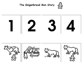 Gingerbread Man Story Sequence