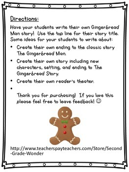Gingerbread Man Story Writing