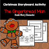 Gingerbread Man Lapbook Storyboard - Story Elements and Summarizing