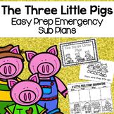 The Three Little Pigs Kindergarten Emergency Sub Plans