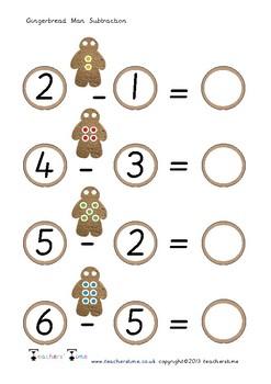 Gingerbread Man Subtraction
