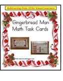 Gingerbread Man Subtraction for Kindergarten Math Center {Special Education}