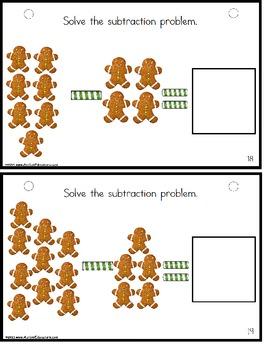 Gingerbread Man Subtraction for Kindergarten Math Center {Special Education}