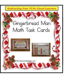 Gingerbread Man Subtraction for Kindergarten Math Center {