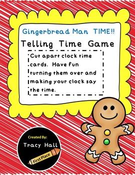 Gingerbread Man Telling Time Game