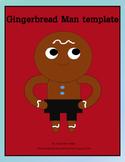 Gingerbread Man Loose in School Template