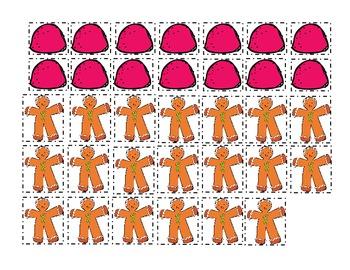 Gingerbread Man: Ten Frame Activities