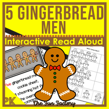 The Five Gingerbread Men~Interactive Read Aloud~Retelling~Patterning~PK-K