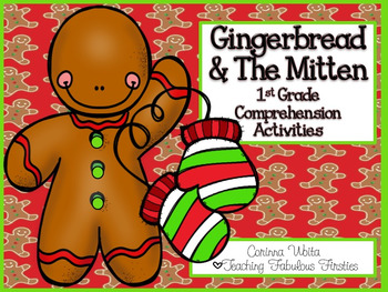 Gingerbread Man & The Mitten Themed Comprehension Activities for First Grade