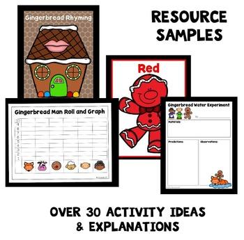 Gingerbread Man Theme Home Preschool Lesson Plans