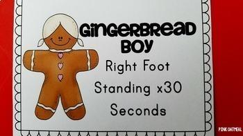 Gingerbread Man Themed Brain Breaks