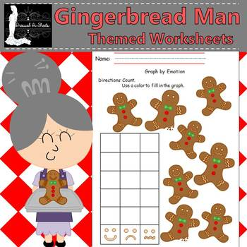 Gingerbread Man Themed Worksheets