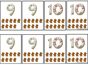 Gingerbread Man Top It Cards