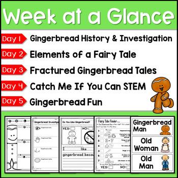 Gingerbread Man Unit for Kindergarten and First Grade