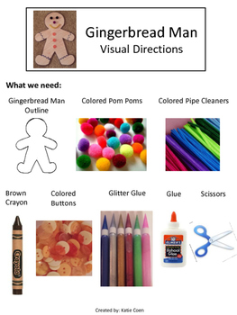 Gingerbread Man - Visual Directions – Art Project