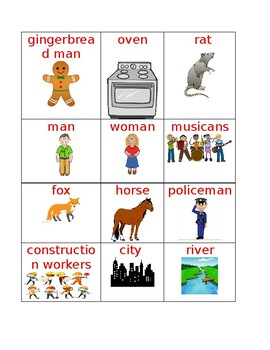 Gingerbread Man Vocabulary Words