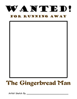 Gingerbread Man Wanted Poster