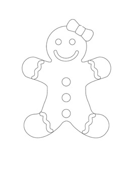 Gingerbread Man Winter Math and Language FUN Games and Activities K-2