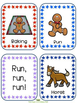 Gingerbread Man Word Cards with IKEA Tolsby Frame