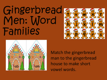Gingerbread Man: Word Families