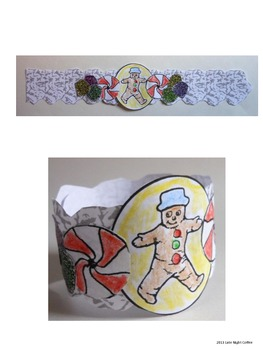 Gingerbread Man Wristband Craft Activity