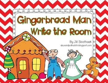 Gingerbread Man Write the Room {8 words}