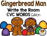 Gingerbread Man Write the Room - CVC Words