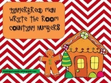 Gingerbread Man Write the Room Counting Numbers