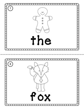 Gingerbread Man - Write the Room Emergent Reader