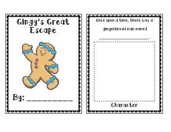 Gingerbread Man Writing