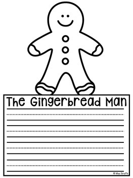 Gingerbread Man Writing Craft Activity