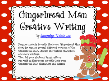 Gingerbread Man Writing Pack