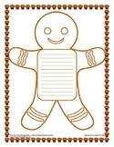 Gingerbread Man Writing Paper
