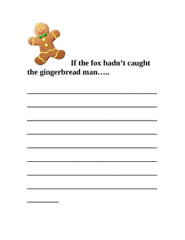 Gingerbread Man Writing Prompt