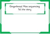 Gingerbread Man activity sheet focus on sequencing the story