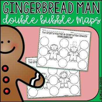Gingerbread Man Double Bubble Maps