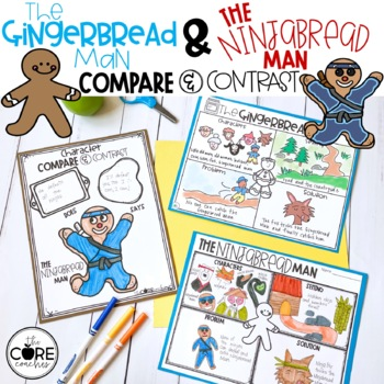 Gingerbread Man and Ninjabread Man Compare/Contrast Lesson