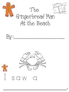 Gingerbread Man at the Beach booklet