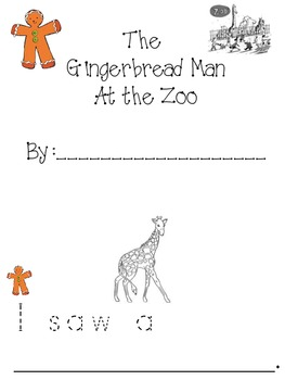 Gingerbread Man at the Zoo