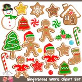 Gingerbread Man gingerbread Christmas Cookies Clipart Set